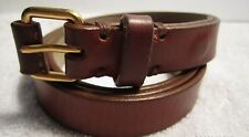 NN MARC BY MARC JACOBS 100% LEATHER BROWN BELT SIZE X/S MSRP $130.00