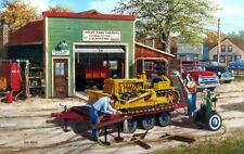 """Ken Zylla Dozer Bull Dozer Old Town Print Signed and Numbered  28"""" x 18"""""""