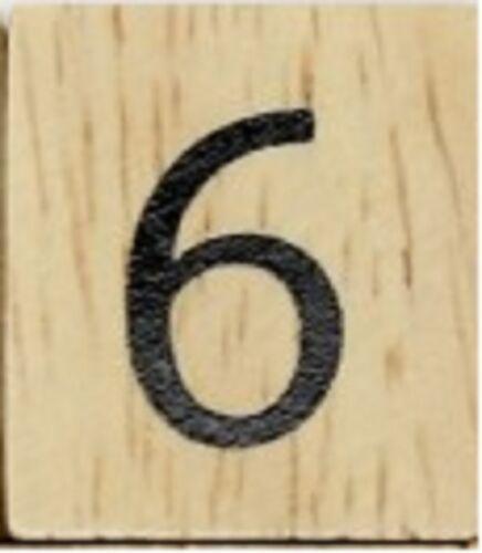 NUMBER 6 six 25 CENTS PER TILE INDIVIDUAL WOOD SCRABBLE TILES