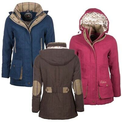 Rydale Ladies Gembling Jacket Hooded Coat With Tweed Trim