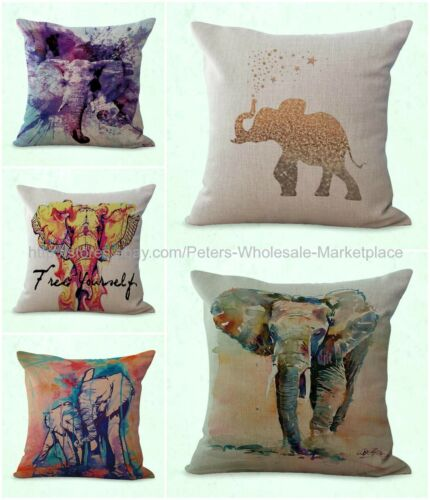 set of 5 cushion covers lucky Indian elephant dining chair cushion covers