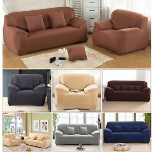 Details about 1 2 3 4 Seater Modern Minimalist Elastic Sofa Cover Soft  Couch Cover Slipcover