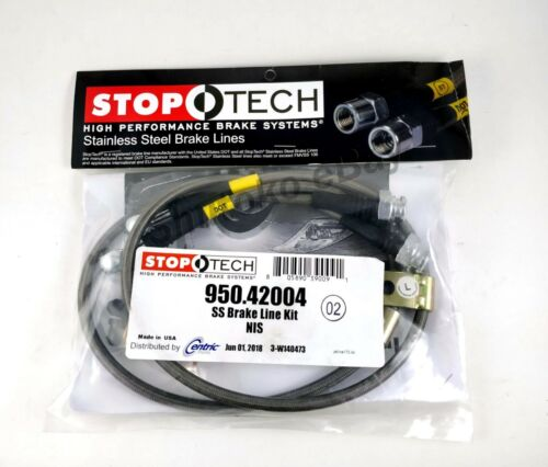 STOPTECH SS STAINLESS STEEL FRONT REAR BRAKE LINE KIT FOR 03-08 NISSAN 350Z