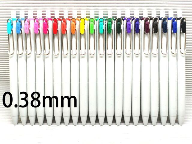Dot Light Pink 6 x Uni-Ball Signo UMN-138 0.38mm Ultra Fine Rollerball Gel Pen