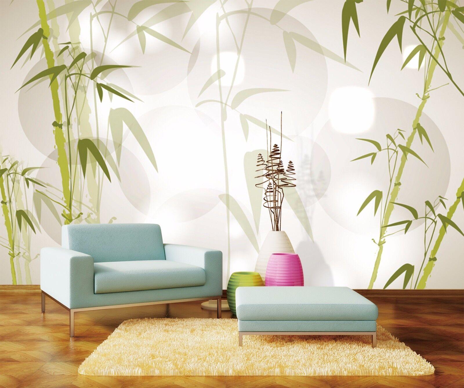 3D Bamboo Leaf 417 Wallpaper Murals Wall Print Wallpaper Mural AJ WALLPAPER UK