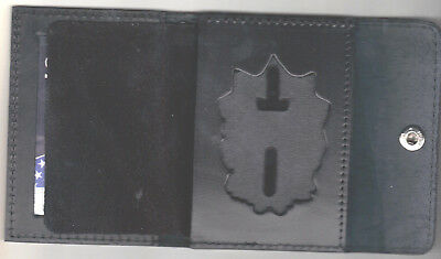 New York//New Jersey Police-Style-Captain Snap Wallet Badge Not Included