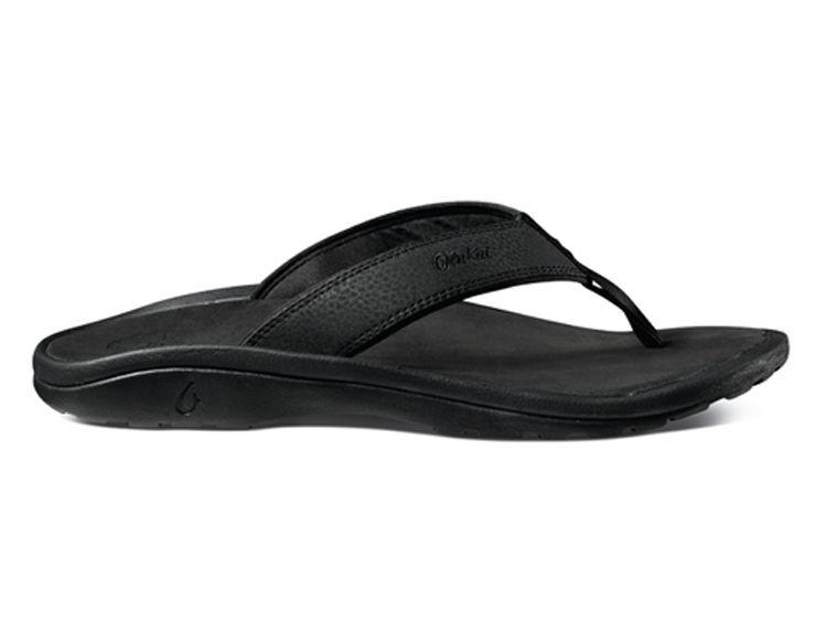 Olukai Ohana Men's Black/black Comfort Flip Flop Men's Ohana sizes 8-15 NIB 722bf7