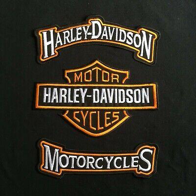 SKULL Motorcycle Jacket Vest BACK PATCH large HARLEY ROCKERS WILLIE G