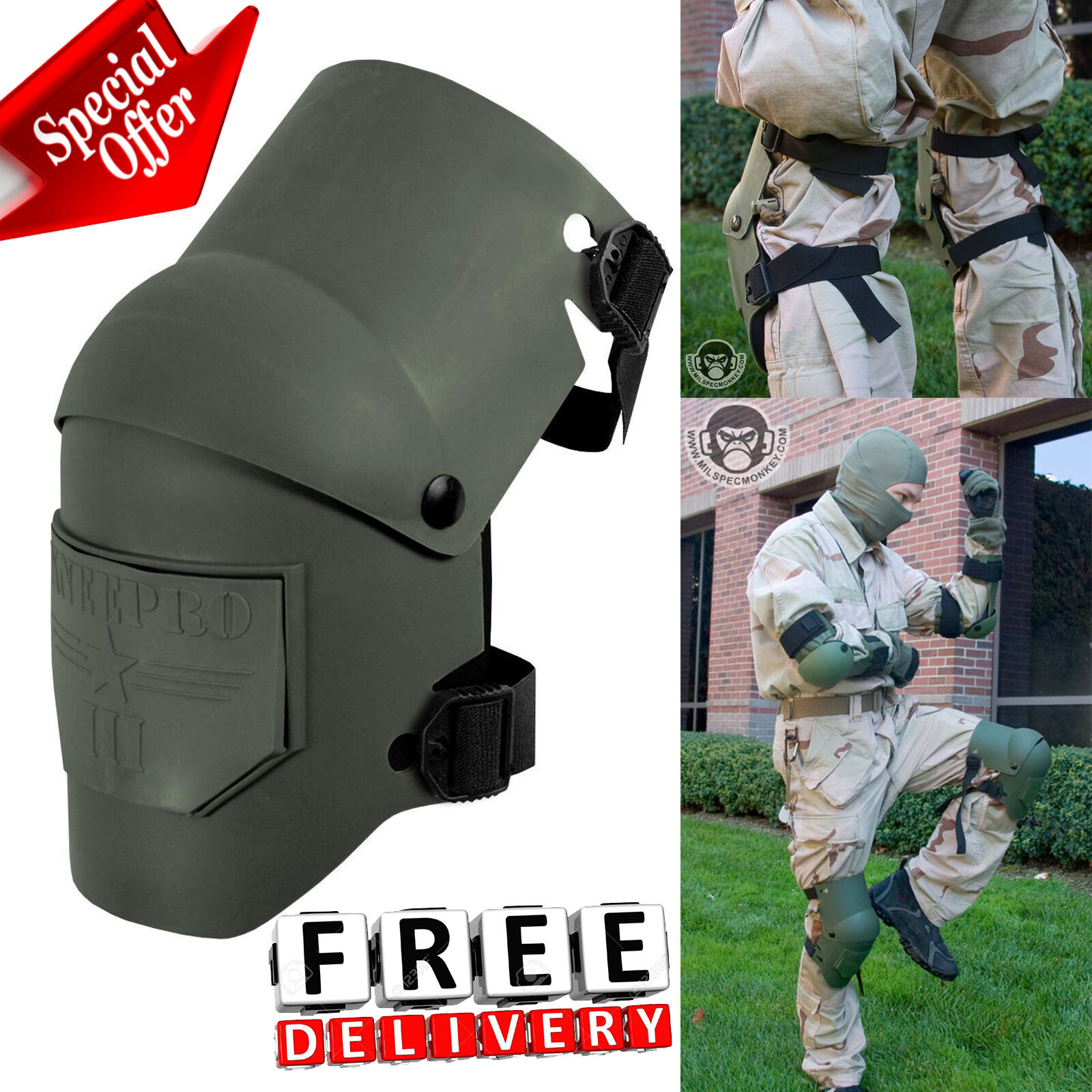 Hunting Knee Pad Predector Comfortable Ultra Flex Military  Tactical Consturction  more affordable
