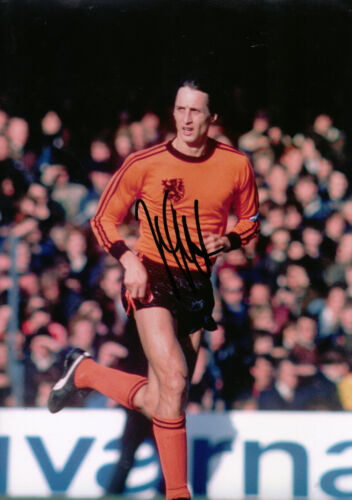 Johan Cruyff Signed 12X8 Photo HOLLAND AFTAL COA 1655