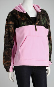 2922aa960f6 Image is loading TrailCrest-Hoodie-Sweater-Pink-Camo-Camouflage-Hunt-Hooded-