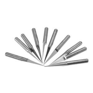 10-Frese-bulino-3-175mm-Shank-0-1mm-V-shape-Carbide-PCB-Engraving-Bits-10-gradi
