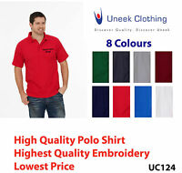 Custom embroidered polo shirt Uneek UC124 Personalised with your text - Workwear