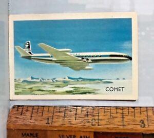 VINTAGE-1960s-BOAC-COMET-JET-AIRLINER-AEROPLANE-AUSTRALIAN-TRADING-CARD-EXC