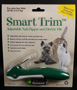 S-amp-M-NuTec-SMART-TRIM-Dog-Cat-Nail-Trimmer-Clipper-amp-Electric-File-New-in-Package