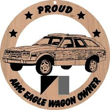 AMC Eagle Wagon Wood Ornament Engraved