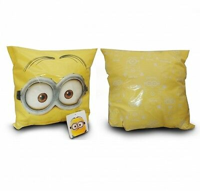 """Minions Cushion 33 x 33 x 8 cm inspired  by /""""Despicable Me/"""" films."""