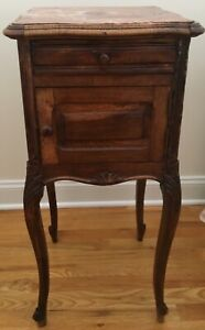 Antique Side Table With Marble Top Ebay