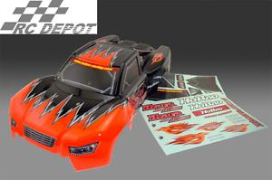 Hobao R PRINTED BODY-orange , W DECAL For Hyper 10SC (RC_DEPOT) US SELLER