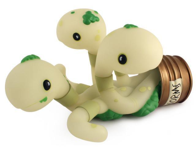 CAN OF WORMS GID GLOW IN THE DARK EDITION DESIGNER VINYL FIGURE BY ANDREW BELL
