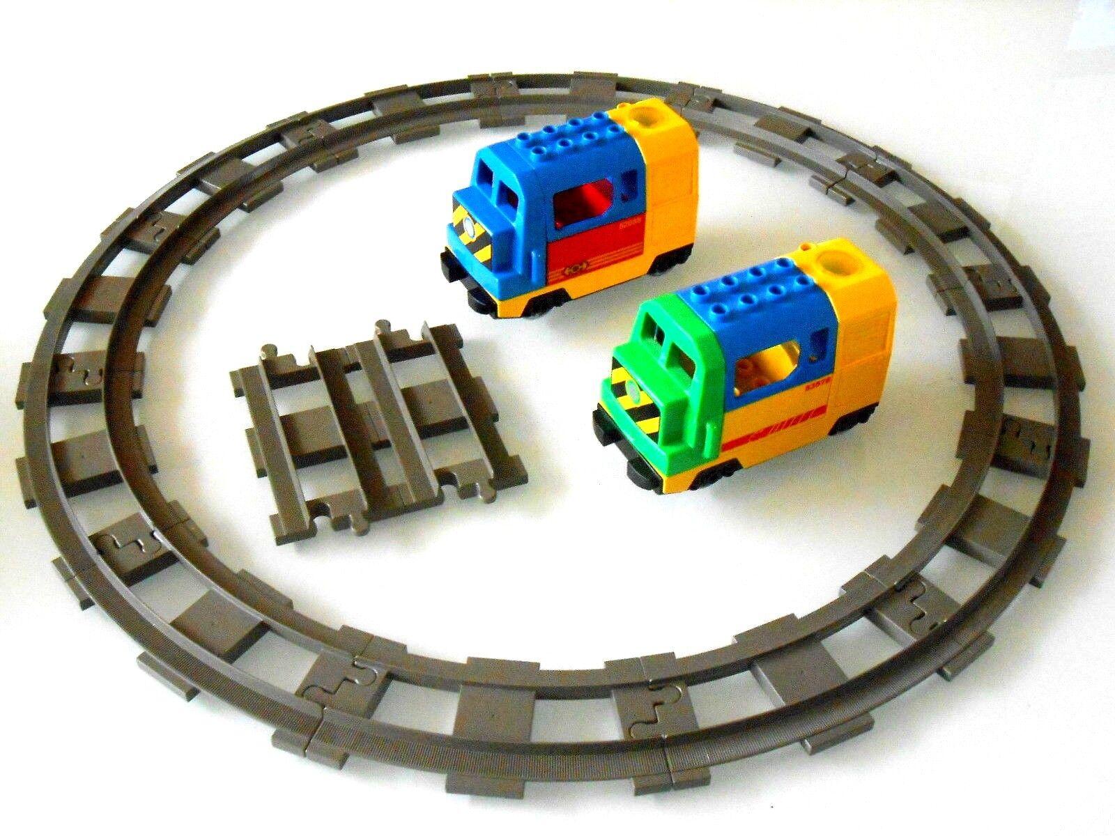 1x Lego Duplo Batteriebetriebene Lego Ville Diesel Lok mit Shienen