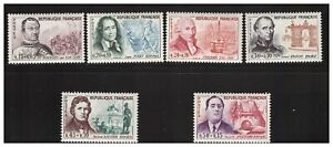 s23351-FRANCE-1961-MNH-Nuovi-Famous-persons-6v-Y-amp-T-1295-300
