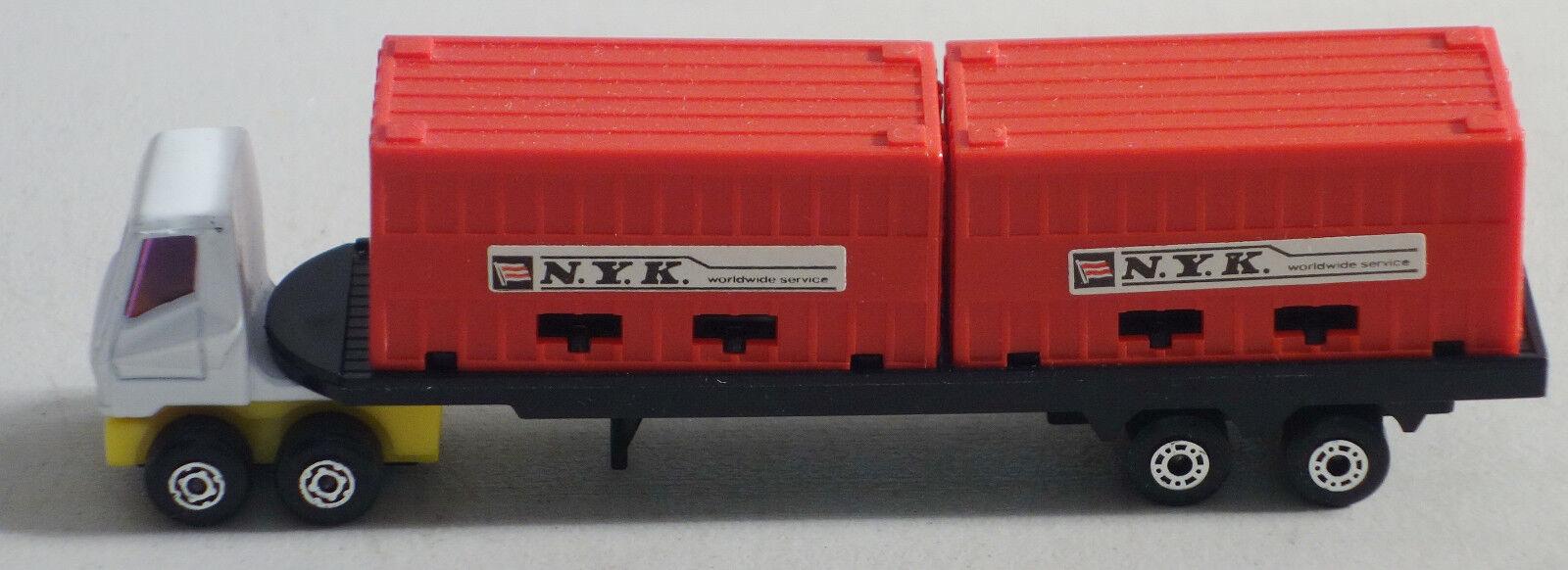 Dte lesney matchbox - konvoi trk ps-1 weiße   Gelb cab w   2 rot  vor .