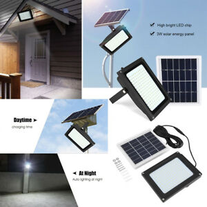 150 led solarleuchte solarlampe flutlicht mit solar panel bewegungsmelder au en ebay. Black Bedroom Furniture Sets. Home Design Ideas