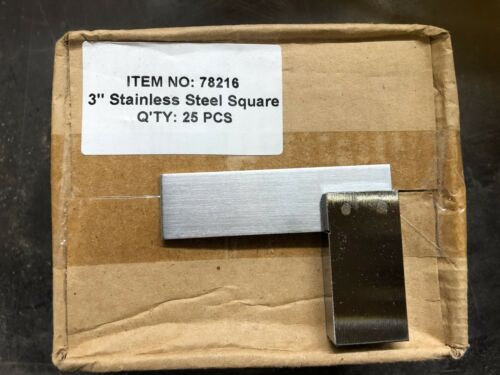 3 inch Stainless Steel Square 78216 Box x 25 pieces