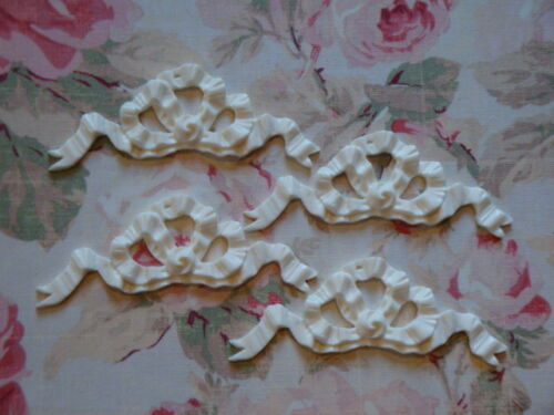 Shabby /& Chic French Bow Ribbon Furniture Applique ~ 4 pcs.