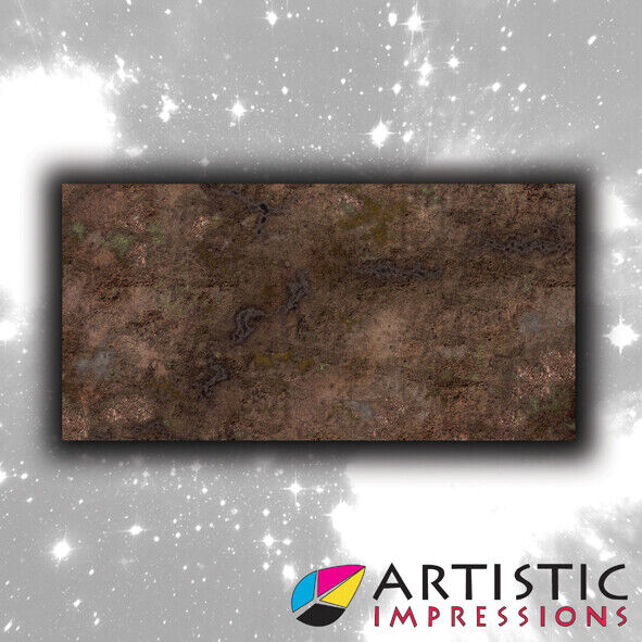 Vinyl 6x3' Death Valley Gaming Mat - Ideal for Warhammer