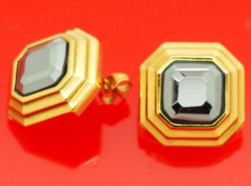 Vintage Lanvin Germany Octagonal Gold Plate w/ He… - image 1