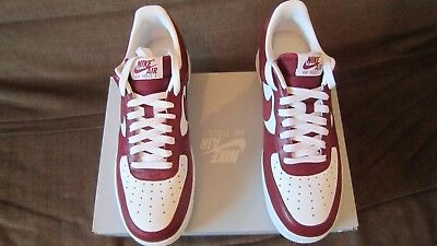 Chaussure Nike Air Force 1 Low, Homme, Neuve, Taille 42.5, Rouge & Blanche | eBay