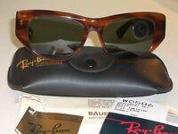 54mm Vintage Bausch & Lomb Ray Ban W0586 Mock Tortoise G15 Dekko Sunglasses
