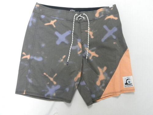 Quiksilver New Wave Markings Boardshorts Shorts Sz 32 X 19 Surf New Men Skate