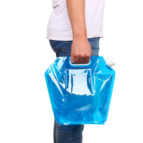 5L Folding Drinking Water Container Storage Lifting Bag Camping Hiking Picnic