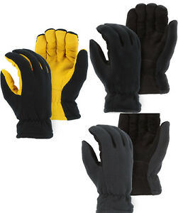 New Hi-Tech WARM-WINDPROOF HEATLOK INSULATED ARTIC FLEECE GLOVES-DEERSKIN SUEDE