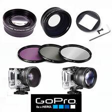 GOPRO HERO5 BLACK WIDE ANGLE LENS+TELEPHOTO ZOOM LENS + FILTER KIT ADAPTOR INC