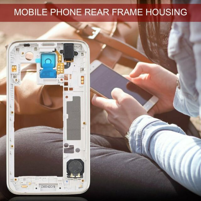 For Samsung Galaxy S5 I9600 G900H Back Housing Middle Frame Bezel Camera Lens YU