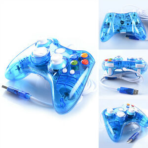 Details about Afterglow LED Blue Wired Controller For Microsoft Xbox 360  USA Free Shipping