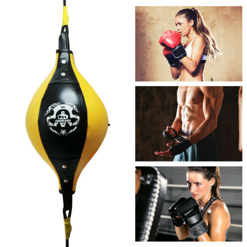 Yellow Double End Boxing Dodge Speed Ball Floor to Ceiling Punching Bag