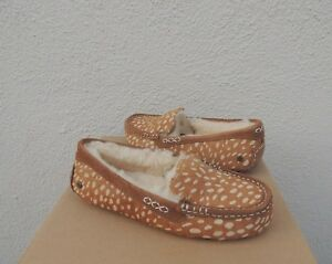 40cbdaa4056 Details about UGG ANSLEY IDYLLWILD COW HAIR SHEEPWOOL MOCCASIN SLIPPERS US  10/ EUR 41 ~ NIB