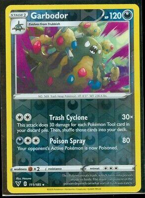 Garbodor  111//185 S/&S: Vivid Voltage Rare Mint//NM  Pokemon