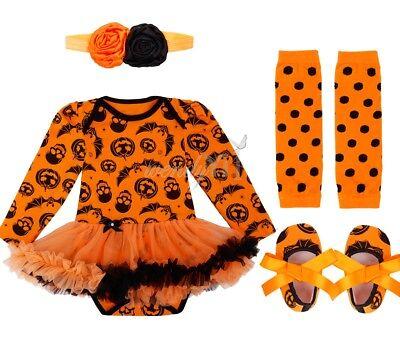 headband+skirt TUTU Baby girls birthday Halloween party costume girls bodysuit