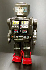 Vintage Horikawa Super Astronaut Toy Robot Japan Rotate-O-Matic Tin