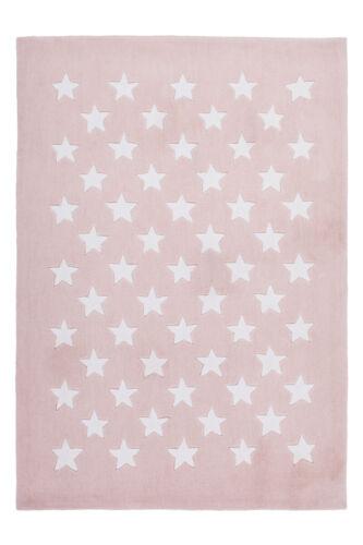 Enfants Tapis étoile Motif Fait Main Puderrosa 120x170cm