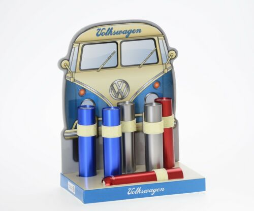 VW LED ALU Taschenlampe in Geschenkschachtel Volkswagen Bulli Käfer Samba SILBER