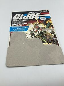 Vintage GI Joe 1983 Battle Gear Accessory Pack #2 Full File Card Back Canadian