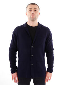Bottoni Cardigan Olymp termici Blue Top Jacket Collar qOqSC