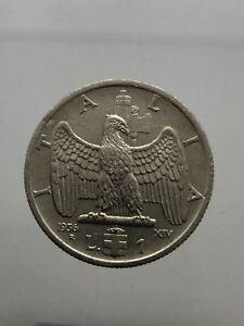 Kingdom-D-039-Italia-Vittorio-Emanuele-III-1-Lyre-1936-Empire